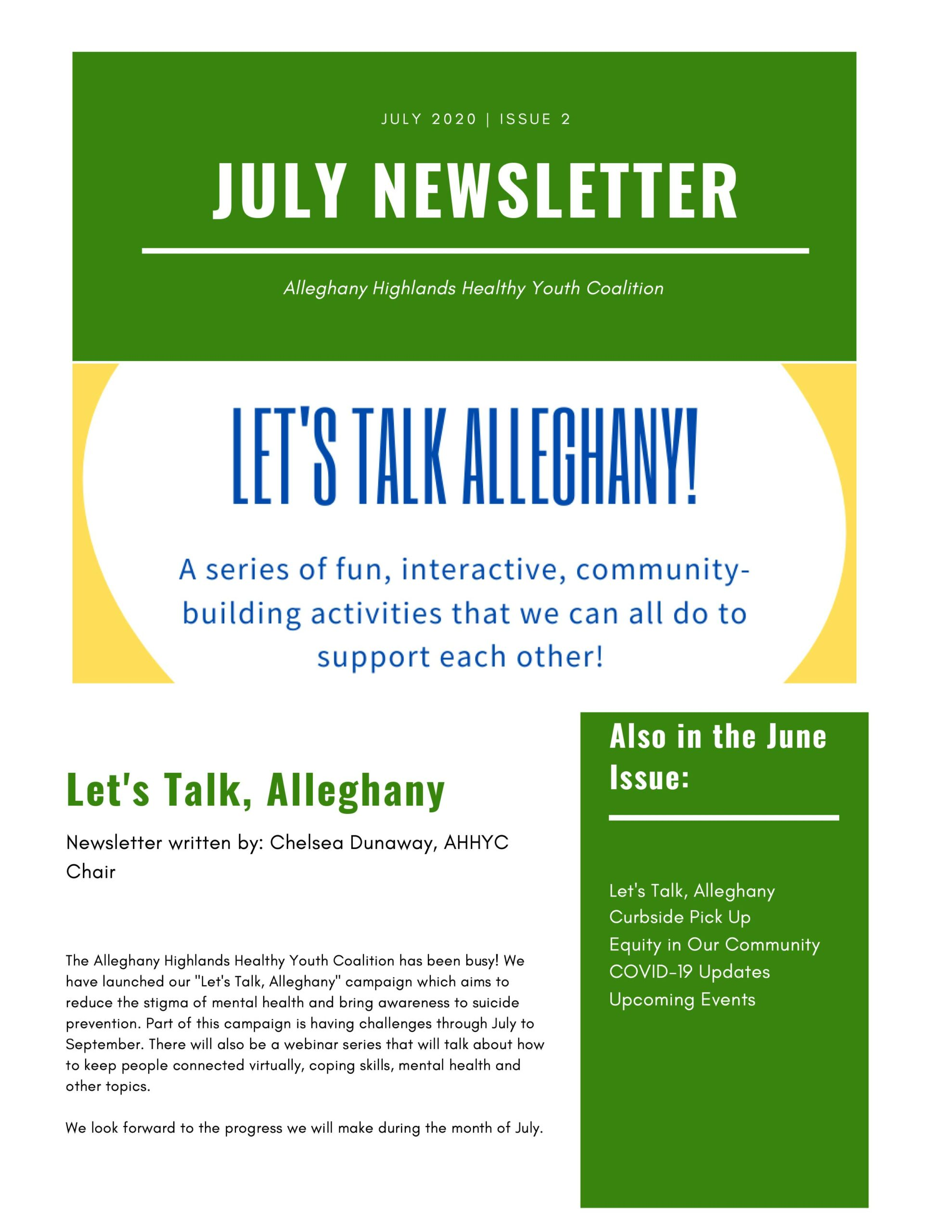 July Coalition Newsletter 1