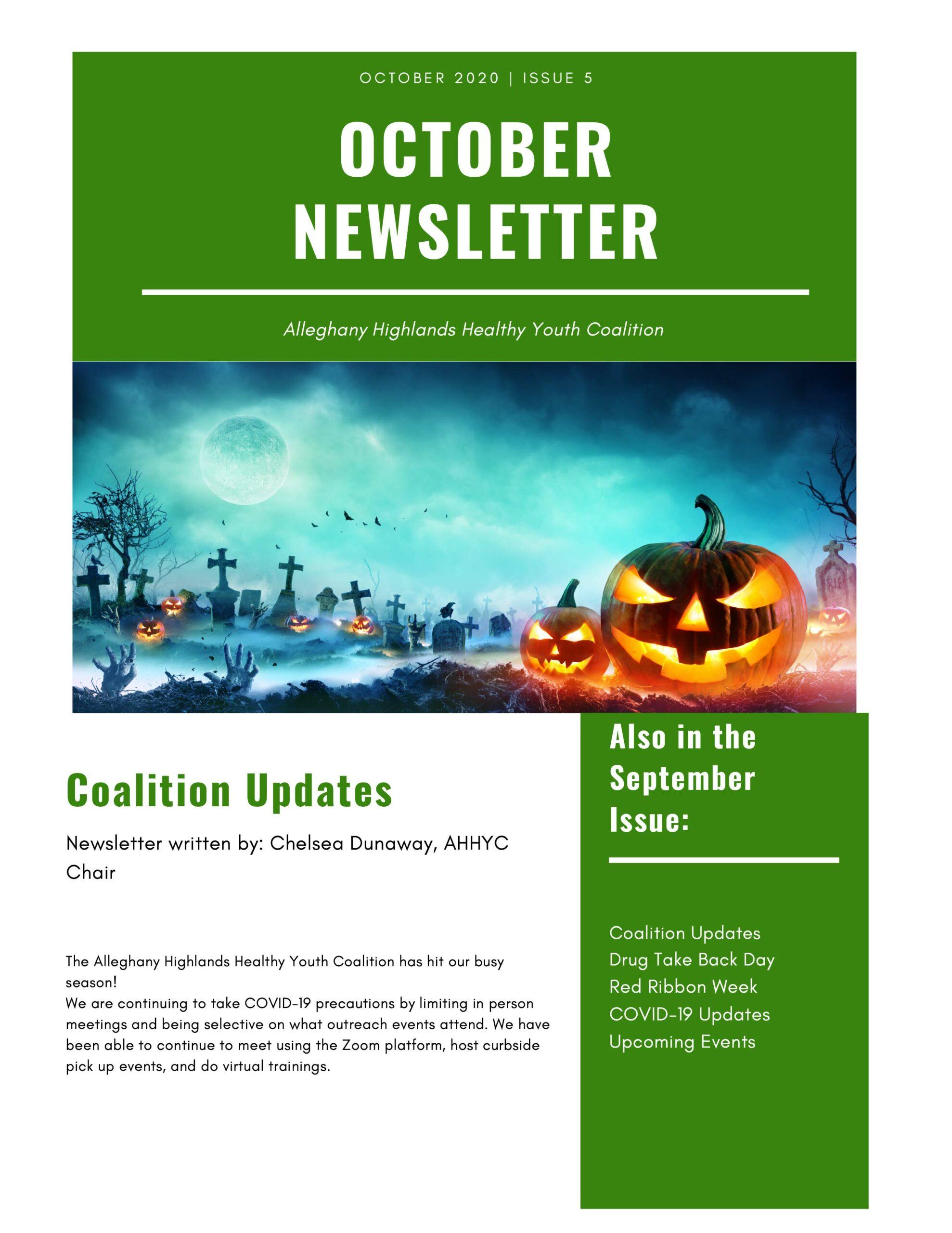 October Coalition Newsletter 1