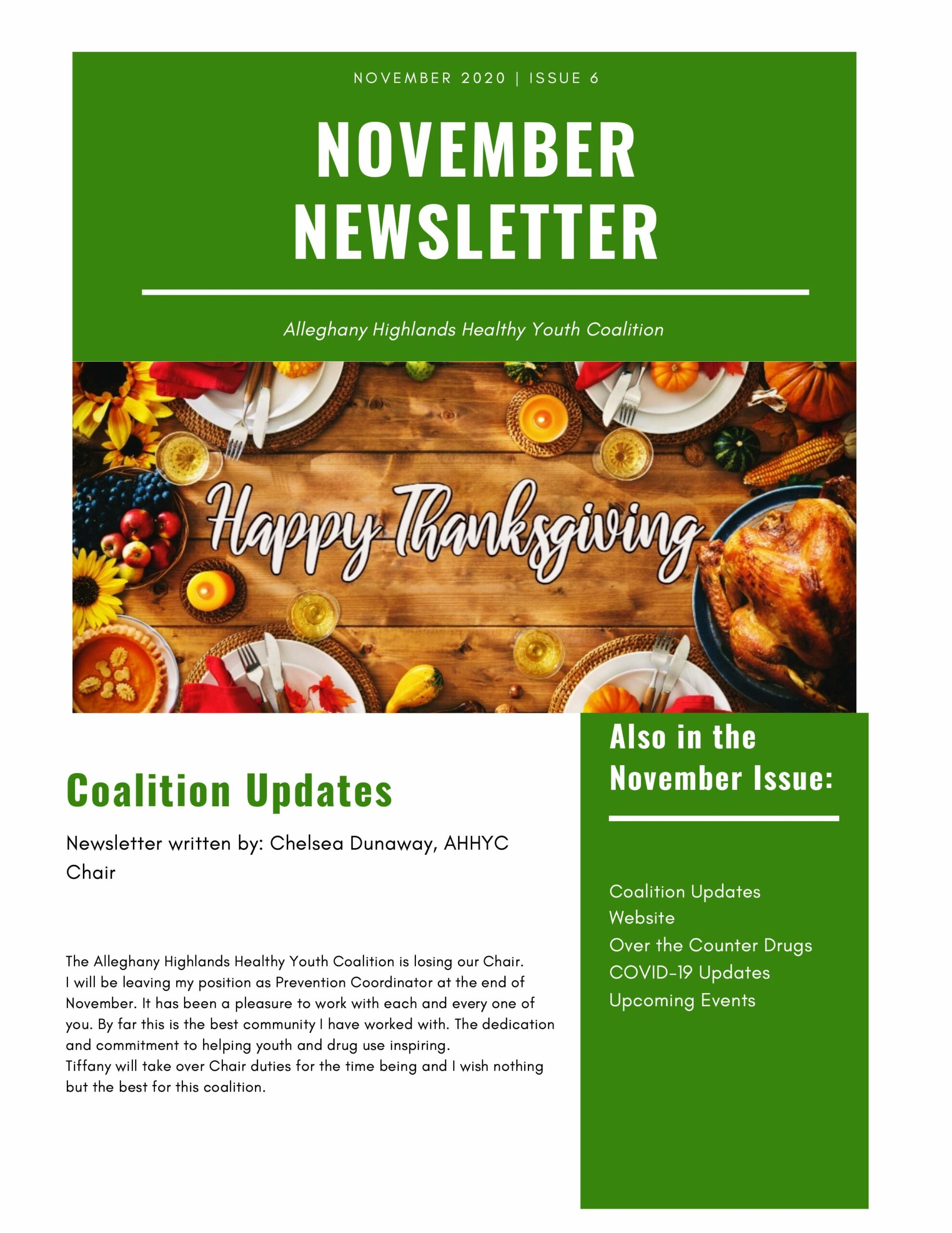 November Coalition Newsletter 1